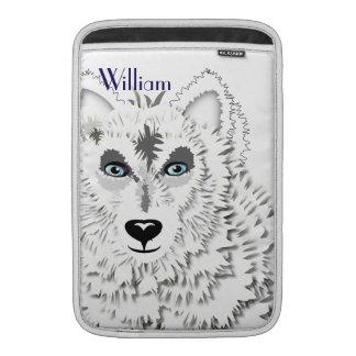 Diseño ártico del animal salvaje de los lobos funda macbook air