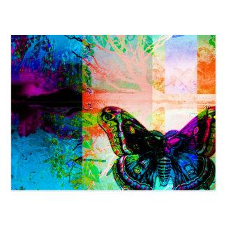 Diseño artístico colorido abstracto bonito de la tarjeta postal