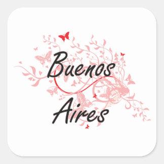 Diseño artístico de la ciudad de Buenos Aires la Pegatina Cuadrada