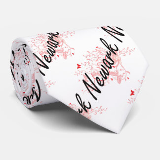Diseño artístico de la ciudad de Newark New Jersey Corbata Personalizada