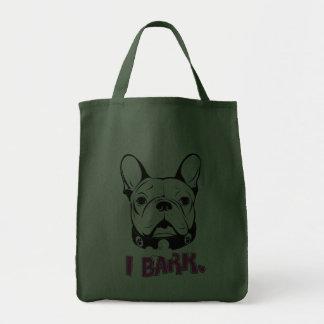 """Diseño artístico de la """"corteza"""" del dogo francés bolsa tela para la compra"""