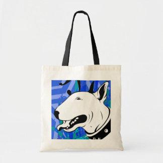 Diseño artístico de la raza del perro de bull terr bolsa tela barata