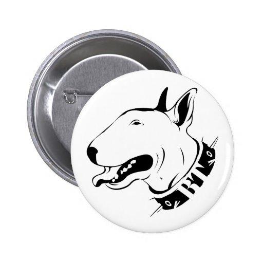 Diseño artístico de la raza del perro de bull terr pins
