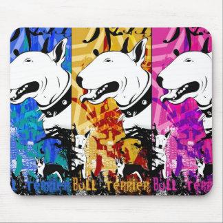 Diseño artístico de la raza del perro de bull terr tapete de ratones