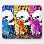 Diseño artístico de la raza del perro de bull terr tapetes de raton