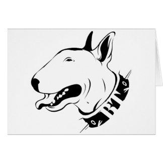 Diseño artístico de la raza del perro de bull terr tarjeton