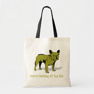 Diseño artístico de la raza del perro del dogo fra bolsa tela barata