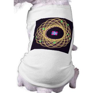 Diseño artístico del átomo de la ciencia camisa de mascota