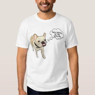 Diseño artístico del perro de Projekt del dogo Poleras