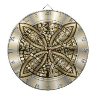 Diseño artístico original del nudo céltico del oro