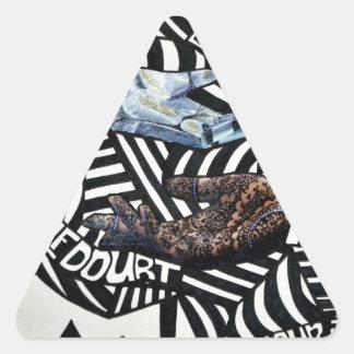 Diseño artsy blanco y negro abstracto calcomanías trianguloes personalizadas