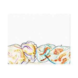 diseño artsy de la comida del pimiento picante del lona estirada galerías