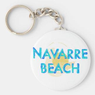 Diseño artsy de la Florida de la playa de Navarra Llavero