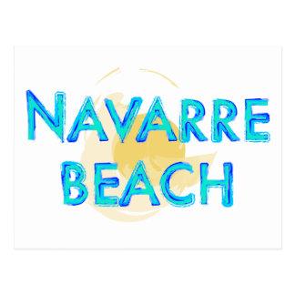 Diseño artsy de la Florida de la playa de Navarra Tarjetas Postales