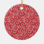 Diseño artsy del arte abstracto ornamentos de navidad