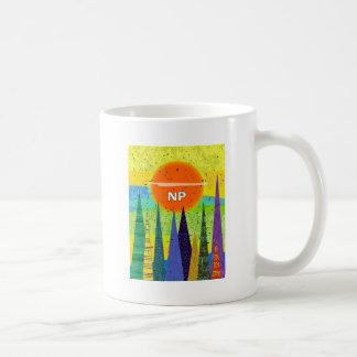 Diseño artsy del bosque del médico de la enfermera taza de café