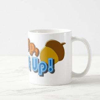 Diseño ascendente o cerrado de la nuez tazas de café