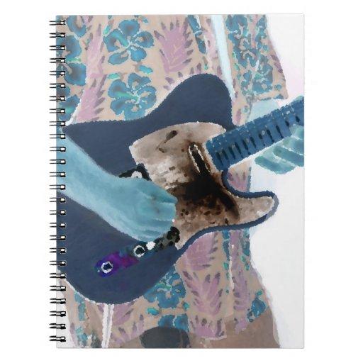 diseño aseado del músico de los colores invertidos libro de apuntes