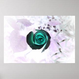 diseño aseado subió de la imagen de la flor del tr posters