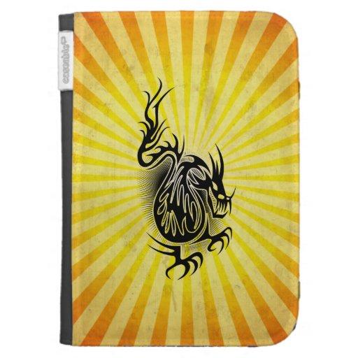 Diseño asiático amarillo del dragón