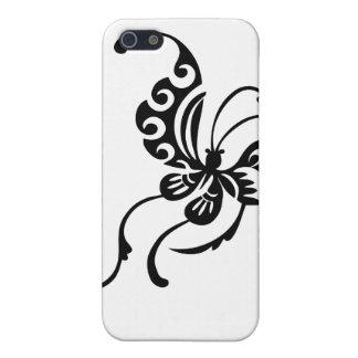 Diseño asiático de la mariposa del estilo iPhone 5 fundas