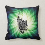 Diseño asiático del dragón; fresco almohadas
