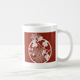 diseño asiático rojo taza