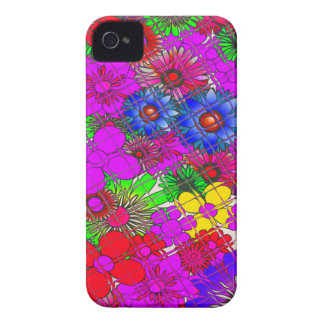 Diseño asombroso colorido hermoso a del estampado funda para iPhone 4 de Case-Mate