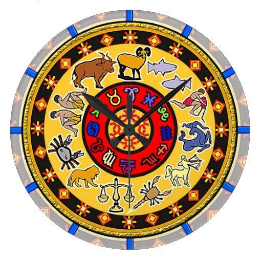 Diseño astrológico antiguo del reloj