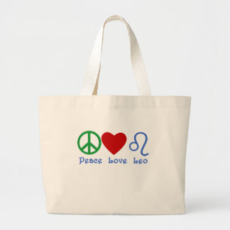 Diseño astrológico de Leo del amor de la paz Bolsas