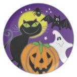 Diseño asustadizo de Halloween Plato De Comida