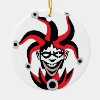 Diseño asustadizo del comodín ornamento de navidad
