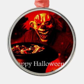 Diseño asustadizo del payaso de Halloween Ornamento De Reyes Magos