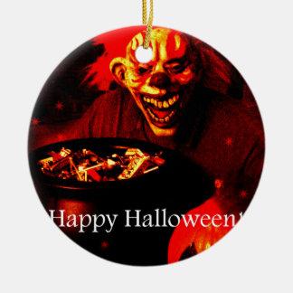 Diseño asustadizo del payaso de Halloween Ornamento Para Arbol De Navidad