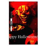 Diseño asustadizo del payaso de Halloween Pizarra