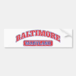 Diseño atlético de Baltimore Pegatina Para Auto