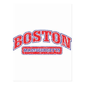 Diseño atlético de Boston Tarjetas Postales