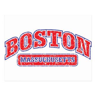 Diseño atlético de Boston Tarjeta Postal