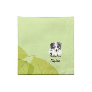 Diseño australiano de las hojas del verde del ~ de servilleta de papel