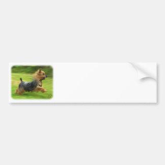 Diseño australiano de Terrier sedoso Etiqueta De Parachoque