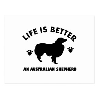 Diseño australiano del perro de pastor postal