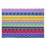 Diseño azteca colorido mantel