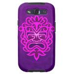 Diseño azteca de la máscara - púrpura samsung galaxy s3 funda