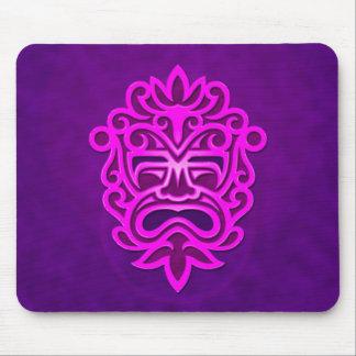 Diseño azteca de la máscara - púrpura tapete de raton