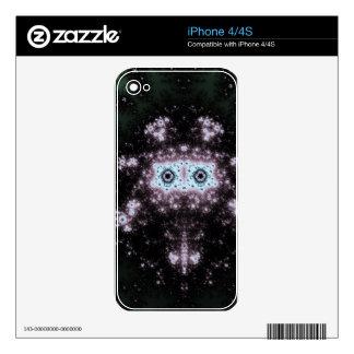 Diseño azteca del fractal de la cara calcomanía para iPhone 4S