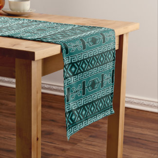 Diseño azteca del sudoeste de la turquesa camino de mesa corto