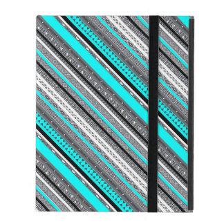Diseño azteca lindo de los modelos del gris azul iPad coberturas