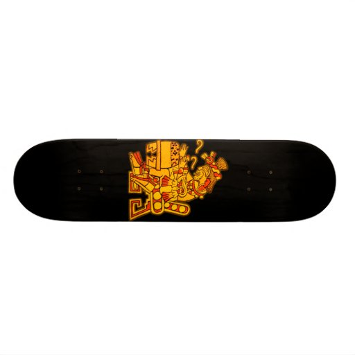 Diseño azteca patineta personalizada