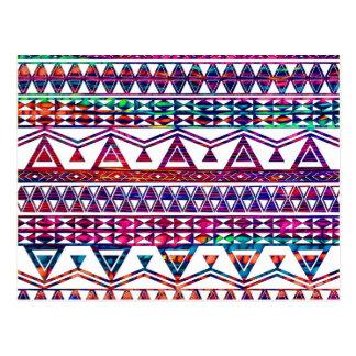 Diseño azteca tribal femenino bonito postal