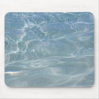 Diseño azul abstracto de la naturaleza del agua I Mousepad